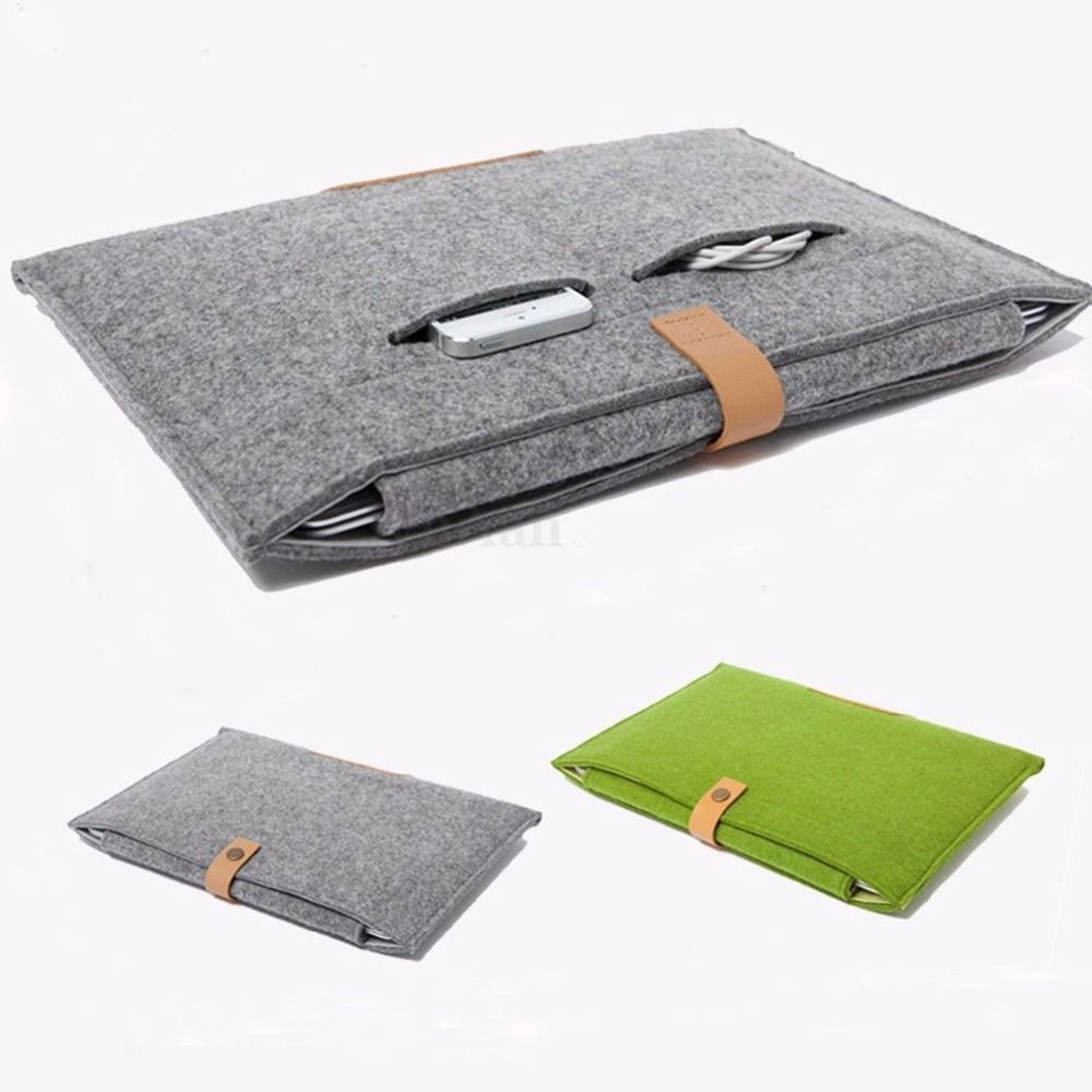 Bag Sleeve Case Wool Felt For Macbook Retina Ultrabook Tablet PC Notebook