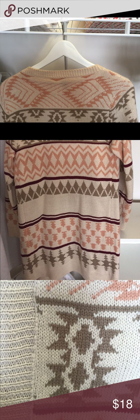 Selling this Aztec print, ribbed trim, waterfall cardigan. in my Poshmark closet! My username is: jessinanicole. #shopmycloset #poshmark #fashion #shopping #style #forsale #WINDSOR #Sweaters
