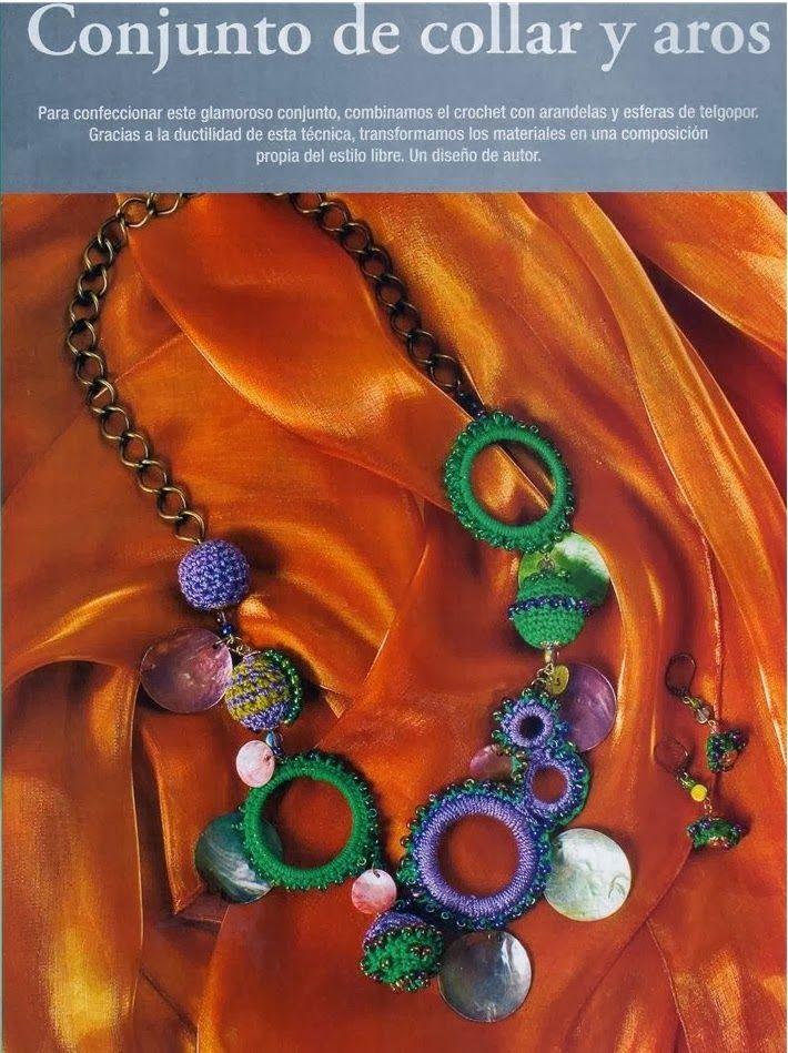 Collar Crochet Aros y Bolas Tutorial - Patrones Crochet | Collares y ...