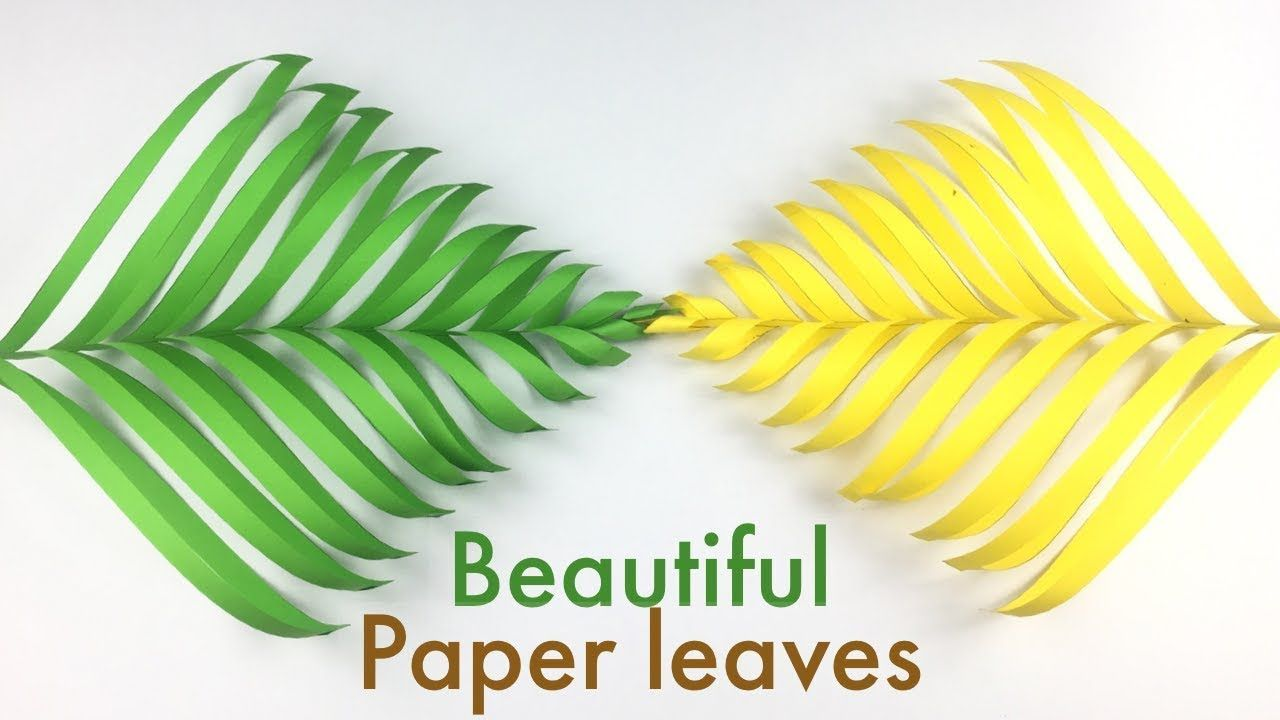 3d Paper Leaves How To Make Beautiful Paper Leaves Beautiful Craft I Paper Crafts Origami Paper Crafts Paper Flowers