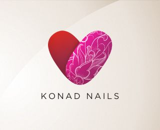 Nail Salon Logo Design Ideas beauty salon logos like this one with our intials Konad Nails Is A Nails Art Sexy Pink Beauty Logo From Designer Alex Veresovich