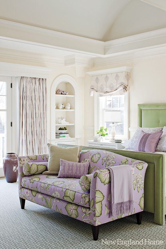 Perfect Partners New England Home Magazine Bedroom Design Bedroom Green House And Home Magazine #purple #and #green #living #room #ideas