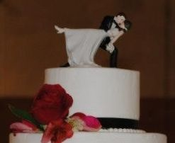Pamela and Justin's wedding cake topper, beautifully classic.