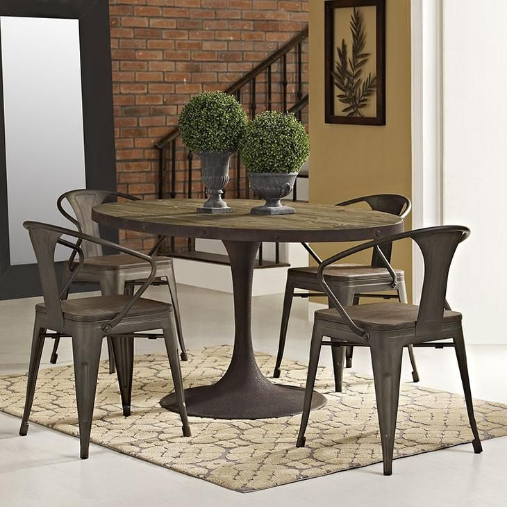 Modway Furniture Modern Drive 60 Dining Table In Kitchen Dining