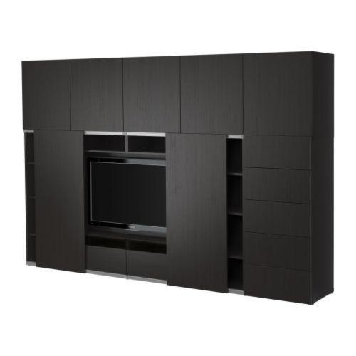 BESTÅ TV storage combo with sliding doors IKEA Sliding doors save - meuble cuisine porte coulissante ikea