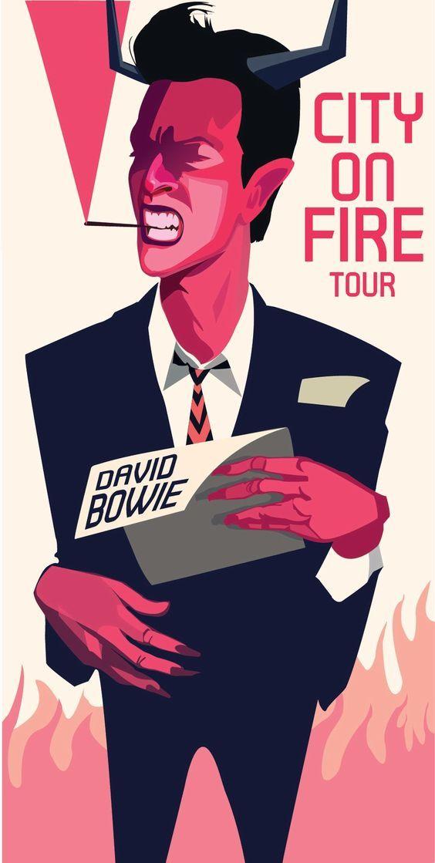 David Bowie, Tour Poster Art, illustration.: