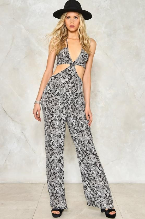 86278c473873 Have Your Snake Cut-Out Jumpsuit