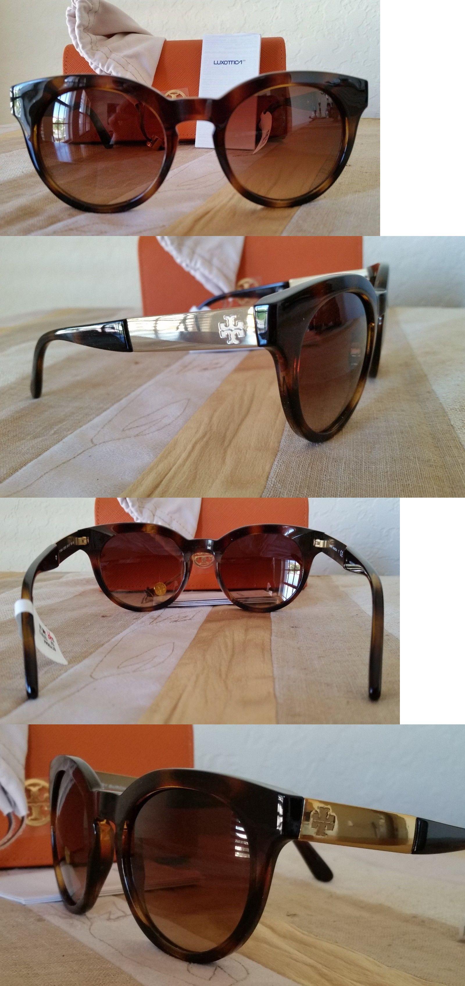 155b0074fcf3 Fashion Eyewear Clear Glasses 179248  Tory Burch Women Debossed-T Round Brown  Gradient Sunglasses +Orange Case Ty9044 -  BUY IT NOW ONLY   99 on eBay!