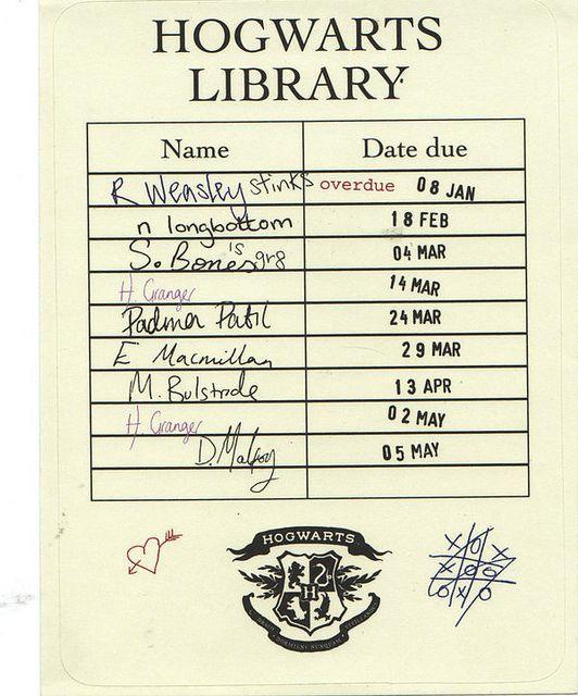 Hogwarts Library Card Hogwarts library, Library card and Fantastic - copy blueprint of a book