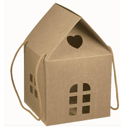 Kartonnen Huisje, Een Passende Geschenkverpakking Met
