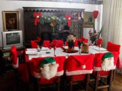 Sillas decoradas de navidad dise os cosas para comprar - Adornos navidenos para sillas ...
