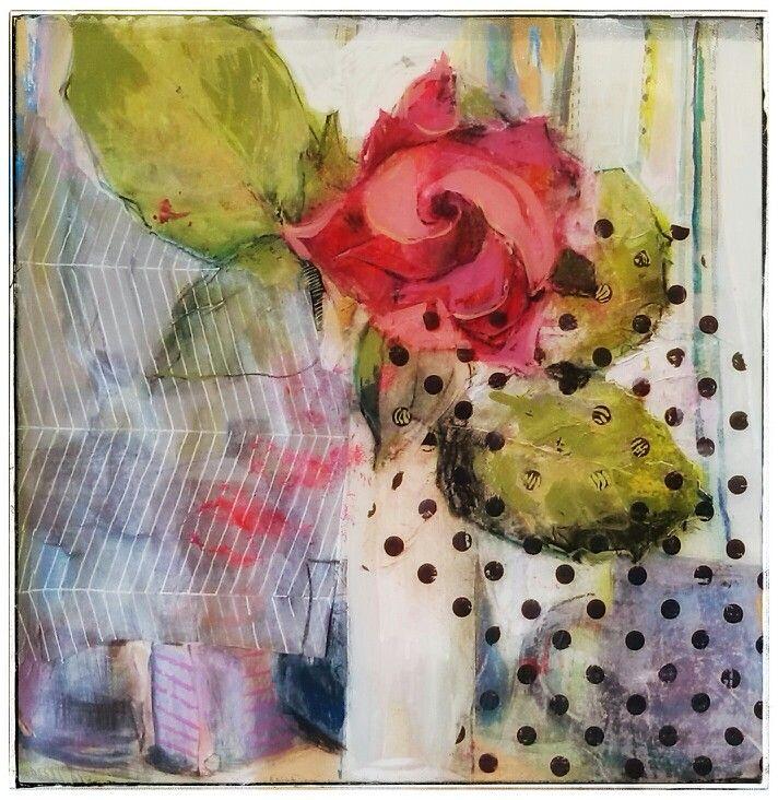 Sabine Weissbach, 'My Kitchen Rose', 30x30cm, Mixed Media