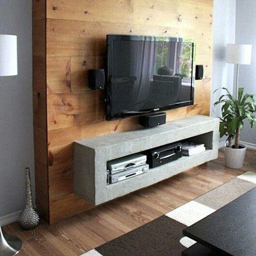 Mueble de tv look industrial by kunst image muebles para for Mueble de pared industrial