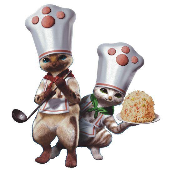 Monster Hunter Felyne Chefs With Images Monster Hunter Cat Monster Hunter Series Monster Hunter