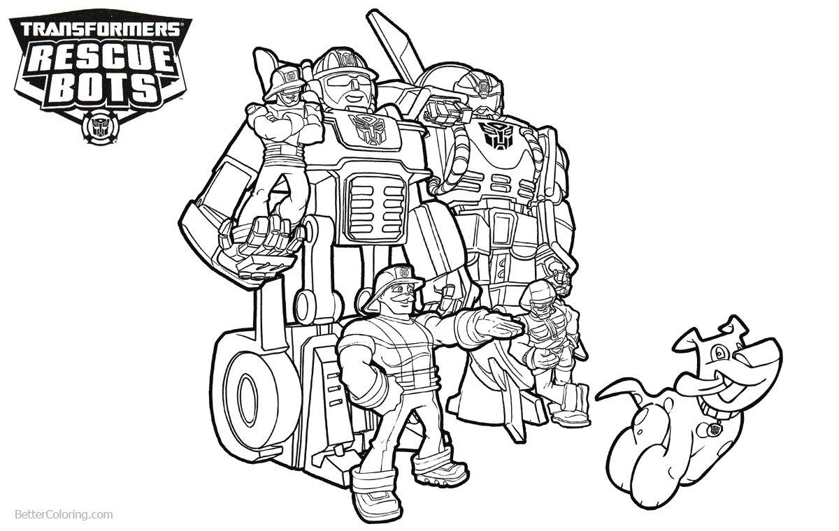 Rescue Bots Coloring Pages Transformers Rescue Bots