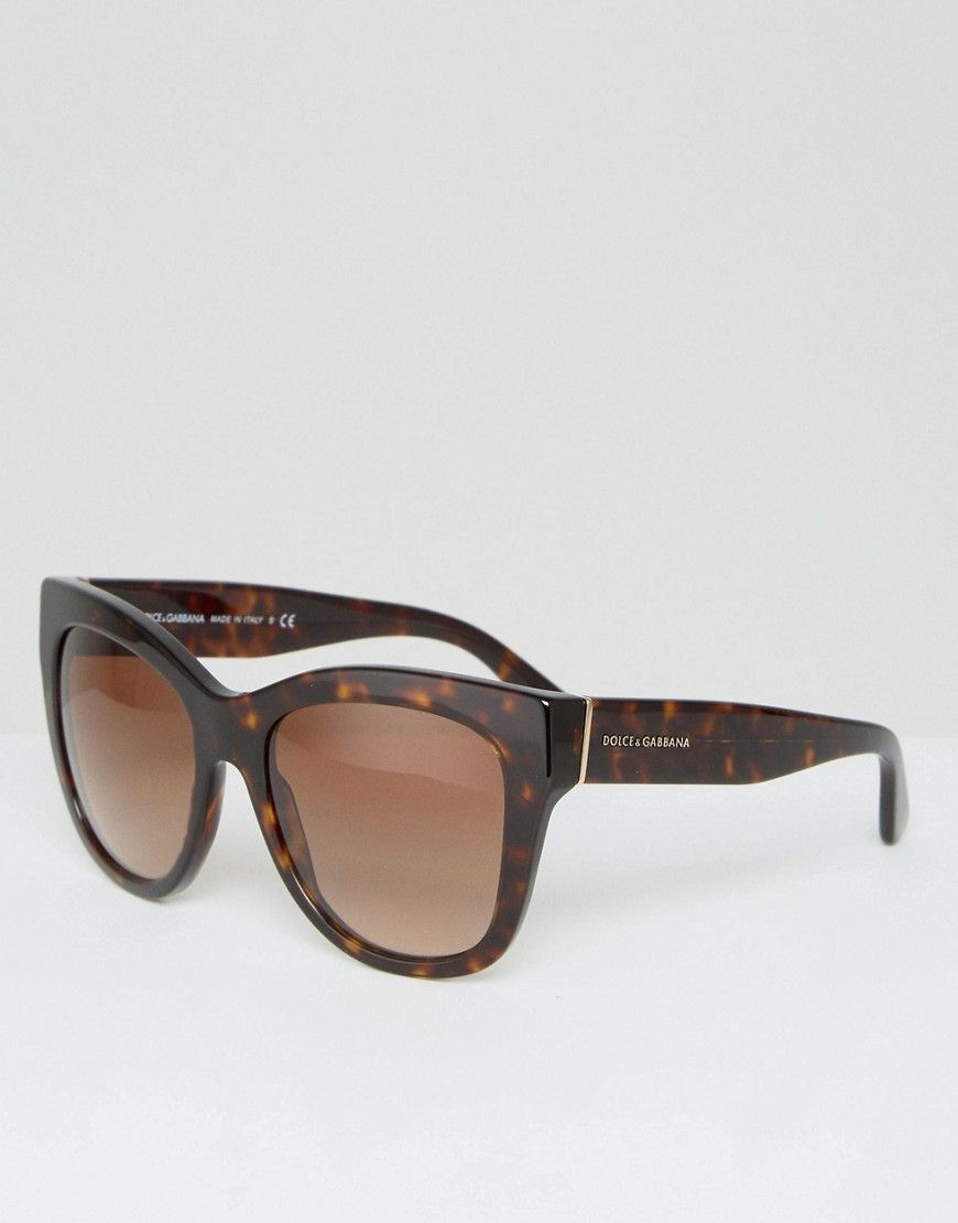 acca60f35f3e DOLCE   GABBANA CLASSIC CAT EYE SUNGLASSES IN TORT - BROWN.  dolcegabbana