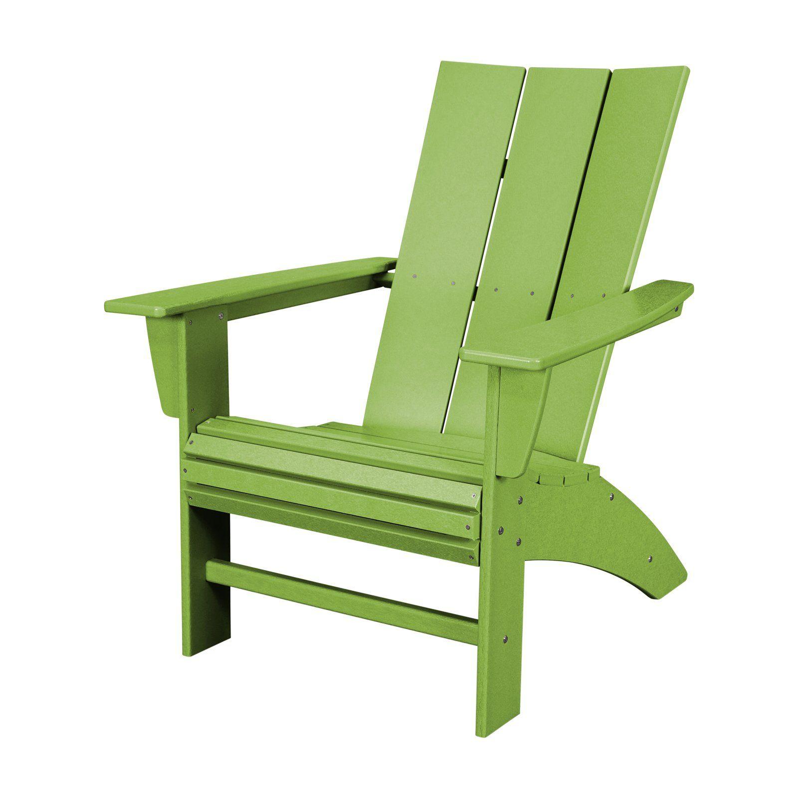 POLYWOOD Modern Curveback Adirondack Chair Modern