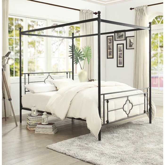 Woodson Canopy Bed In 2019 Queen, The Curated Nomad Quatrefoil Queen Canopy Bed