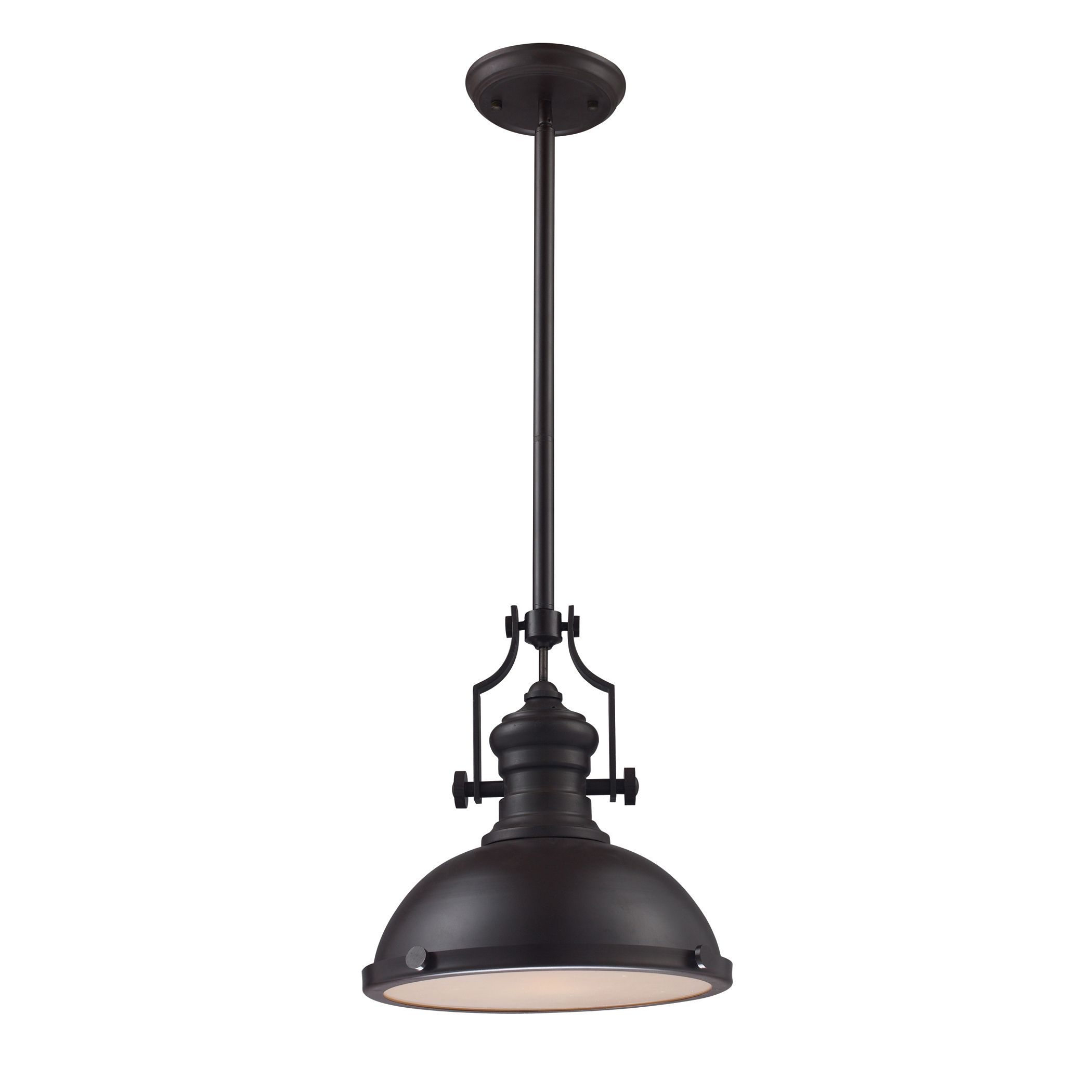 ELK LIGHTING Chadwick Single Light Medium Oiled Bronze Pendant (Chadwick Oiled  Bronze Pendant)