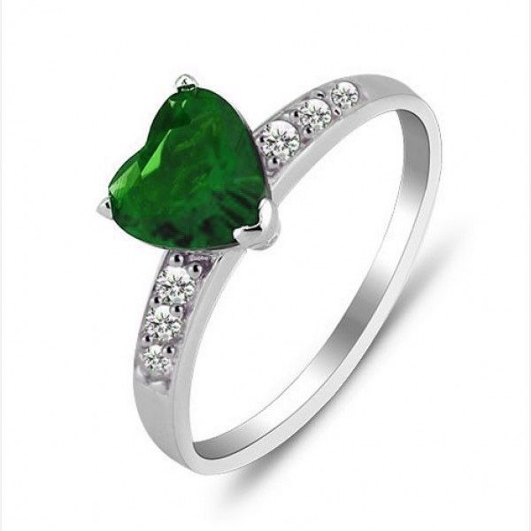 Heart Cut Emerald Rhodium Plated Sterling Silver Womens Promise Ring (£63) ❤ liked on Polyvore featuring jewelry, rings, jeulia, sterling silver emerald ring, sterling silver heart shaped rings, rhodium plated sterling silver jewelry, heart ring and emerald jewelry