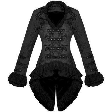 vintage inspired victorian coat  steampunk corset dress