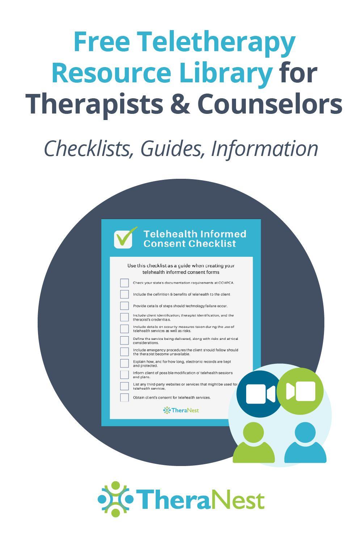 Free Telehealth & Teletherapy Resources   TheraNest