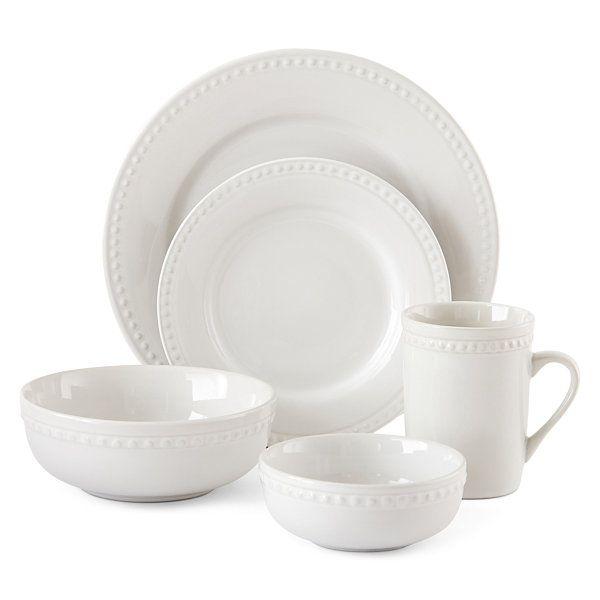 JCPenney Home™ Bead 40-pc. Dinnerware Set