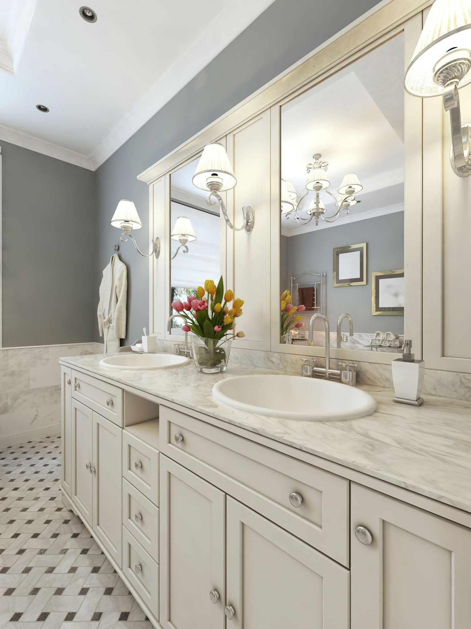 Blog Post Bath Spaces 4 Thrifty Trends For Bathroom Lighting