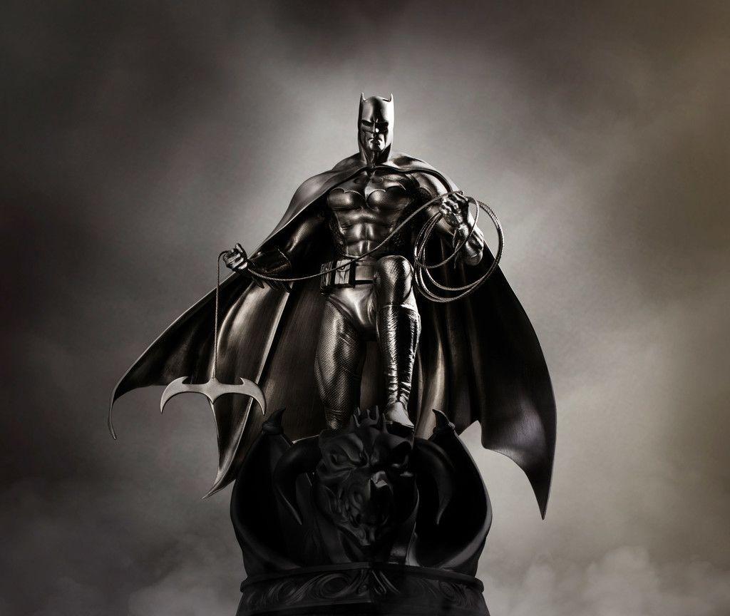 Batman Statue Dc Comics Dark 5k Wallpaper