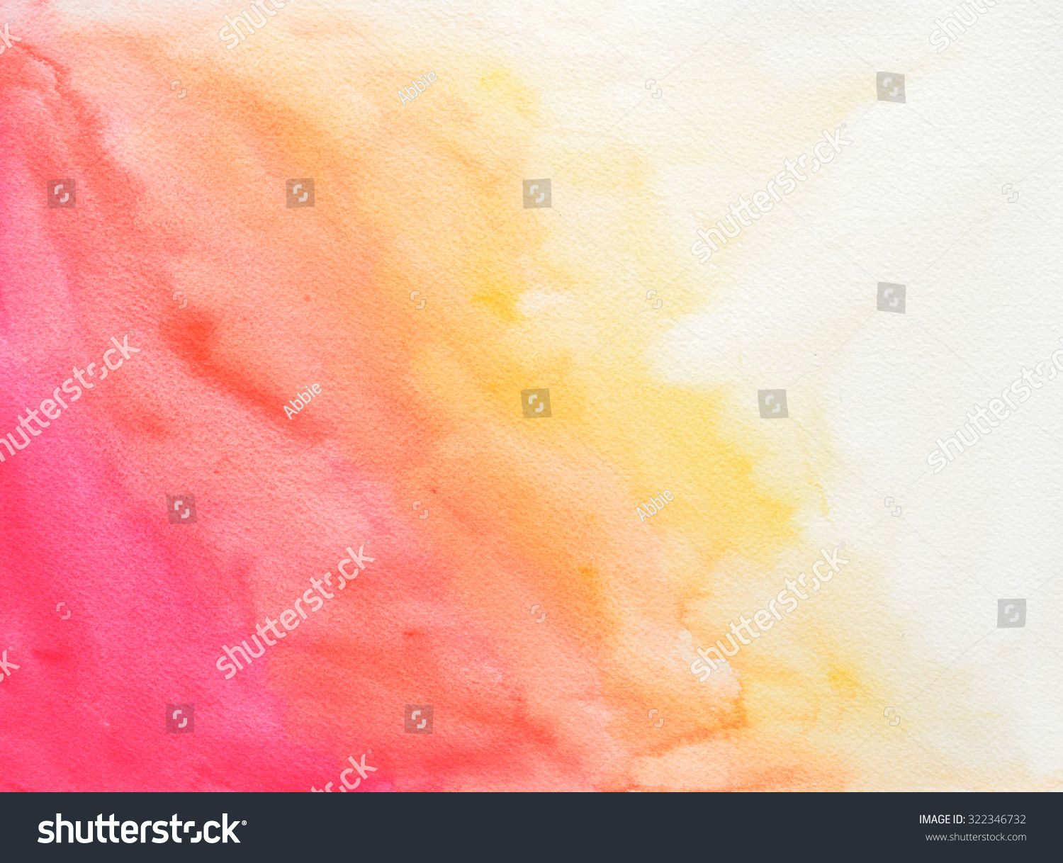 Background Of Textured Watercolor Paper With Pink Orange And
