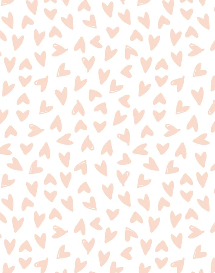 Hearts Pink On White Aesthetic Pastel Wallpaper Heart Wallpaper Pastel Aesthetic