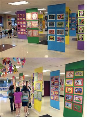 Cortinas para expor os desenhos das crian as e que for Cortinas para aulas