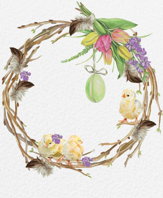 Easter egg watercolor. Clipart