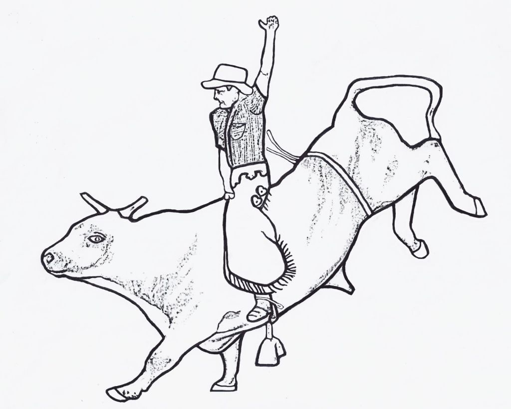 Bull Riding Coloring Pages | Coloring Pages | Pinterest | Bull riding
