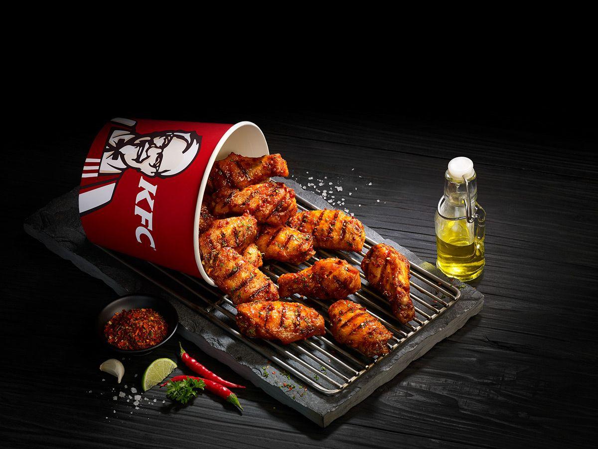 KFC Smoky Grilled Wings on Behance Grilled wings, Kfc