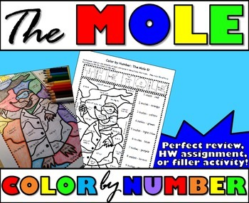 The Mole Volume Particles Mole Conversionswant A More Fun And Engaging Way To Help Your Students Review Coloring By Number Lab Activities Filler Activities Fun with moles worksheet answers