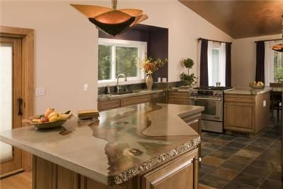 Natural Stained Concrete Countertops Absolute Concreteworks Poulsbo Wa