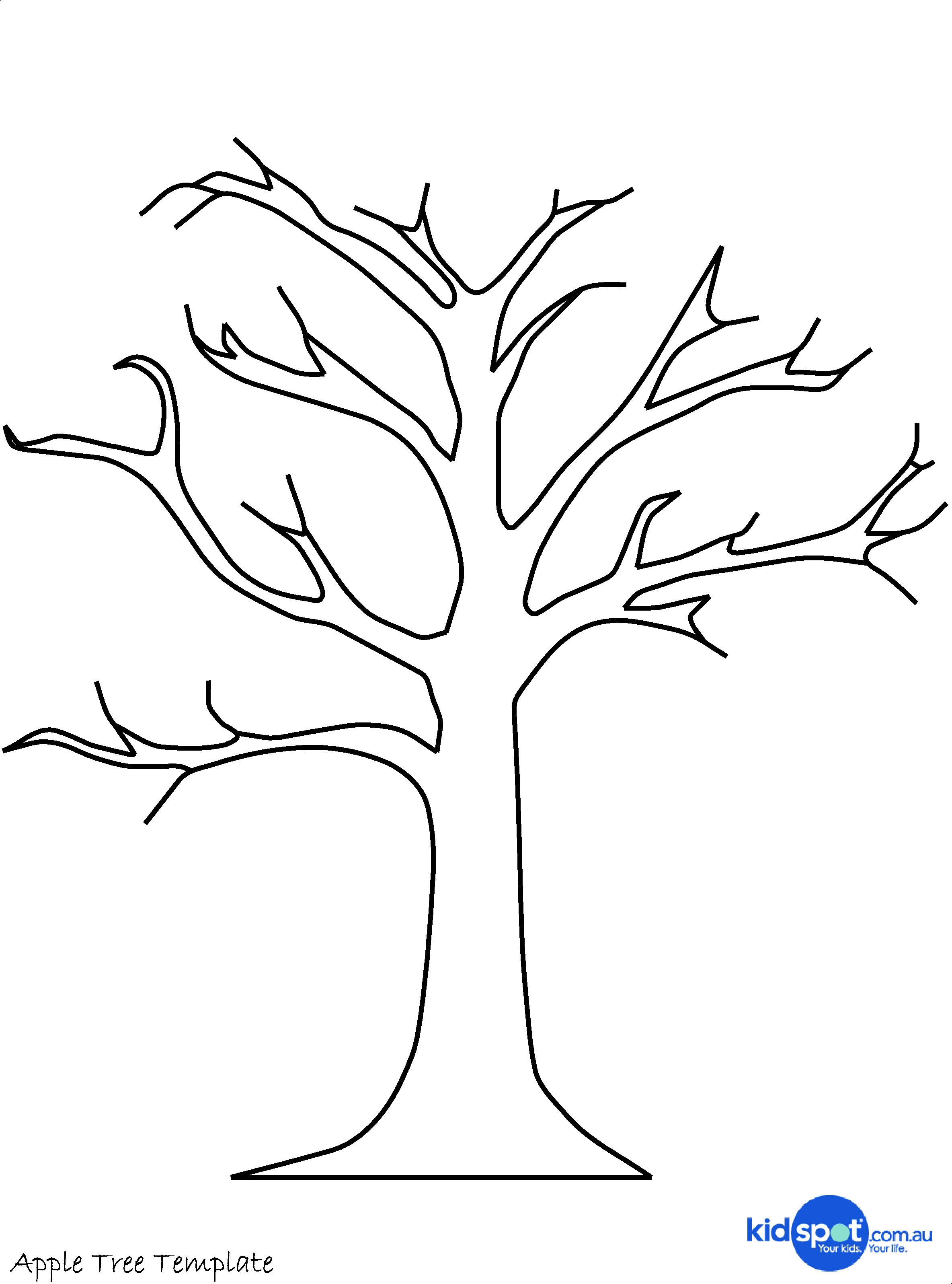 graphic regarding Printable Trees named printable tree template Tree Craft - Cork Stamp Apple Tree