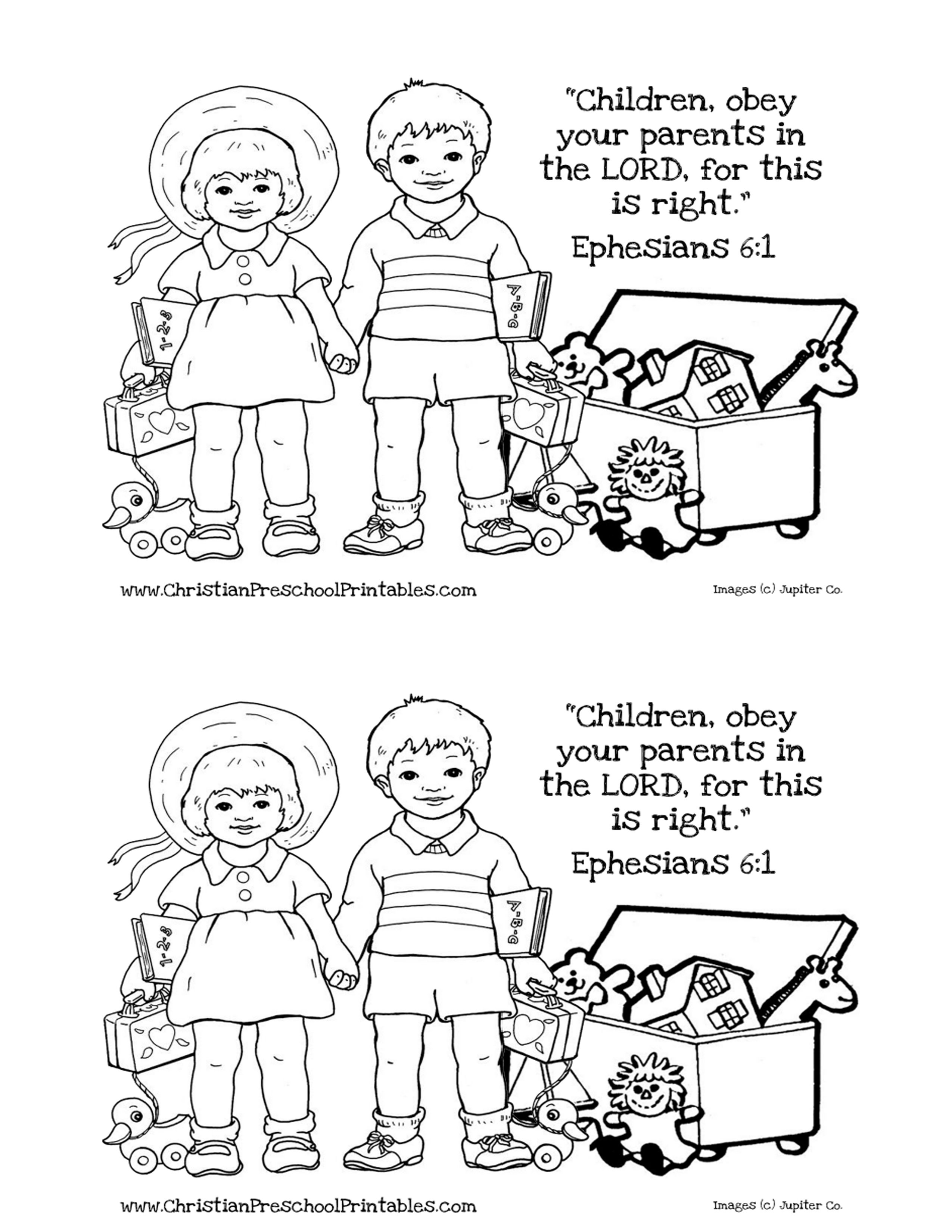 Preschool bible lessons coloring pages - Obey Week 2 Coloring Page Jpg 2550 3300