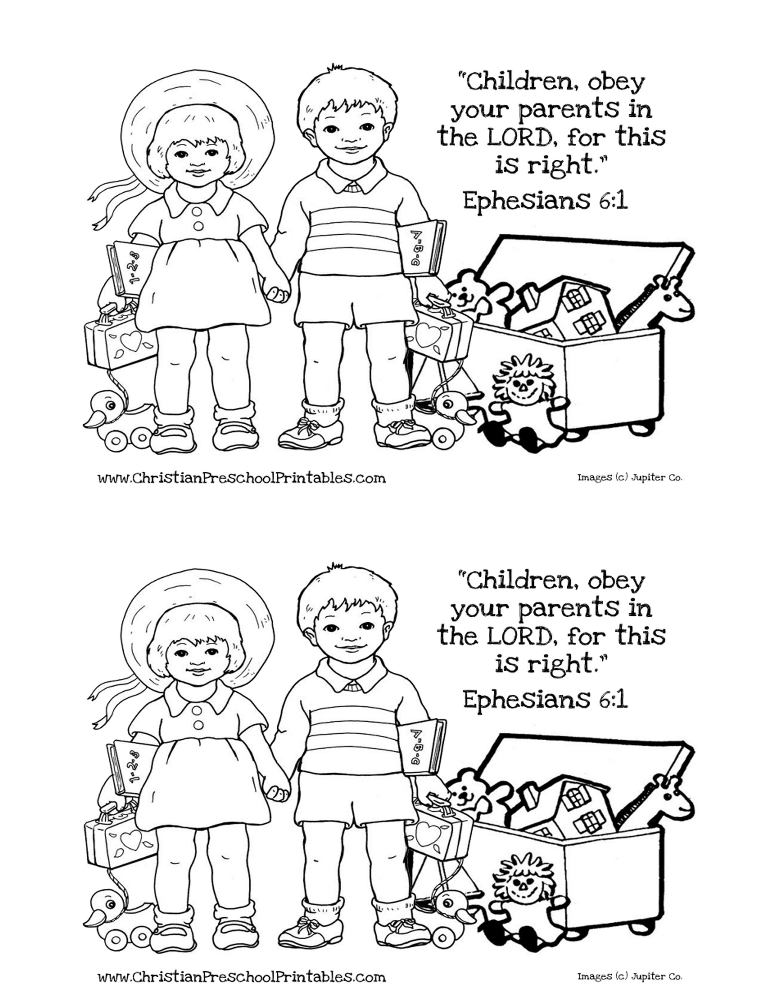 Obey Week 2 Coloring Page Jpg 2550 3300 Preschool Coloring