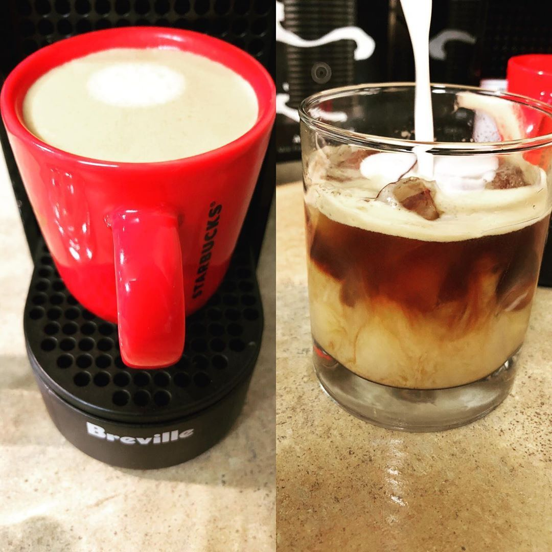 Can we just talk about how amazing it is to make an iced espresso at home anytime I want?!!  Can we just talk about how amazing it is to make an iced espresso at home anytime I want?!! #espressoathome
