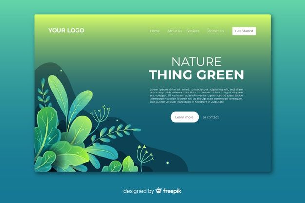 Download Flat Nature Landing Page Template For Free Web Layout Design Web Template Design Web Design