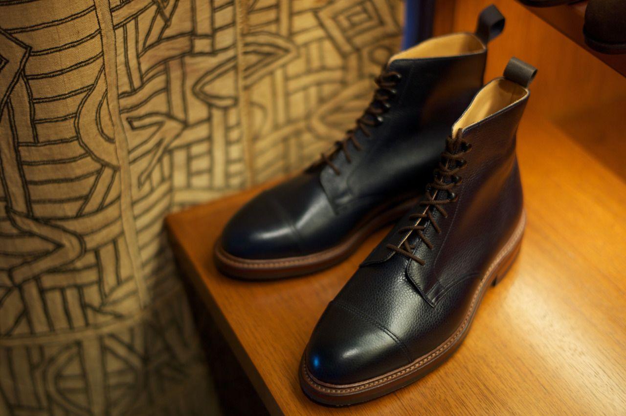 Boots Coniston scotch grain leather black Crockett & Jones rnTtR3