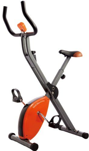 Star Shaper Folding Exercise Bike Orange Grey Black 89 X 43 X 114 Cm Features Ideal Bicicleta Estatica Tipos De Bicicleta Fitness En Casa