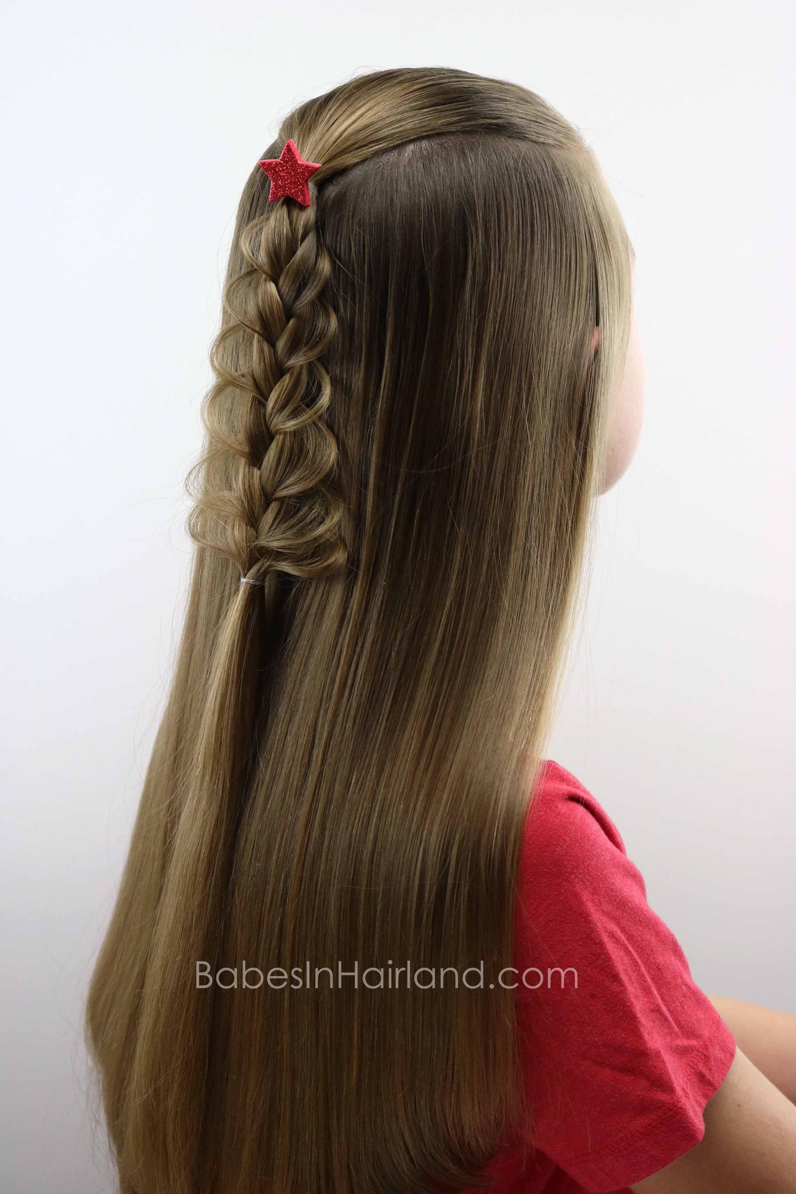 Christmas Tree Loop Braid From Babesinhairland Com Christmas Hair Braid Christmas Tree Braids For Long Hair Braided Hairstyles Face Shape Hairstyles