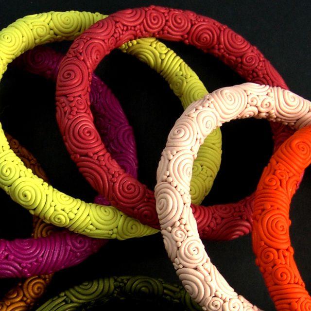 Polymer Clay bangle bracelet by photo plus, via Flickr -  Rita Dumais Sim