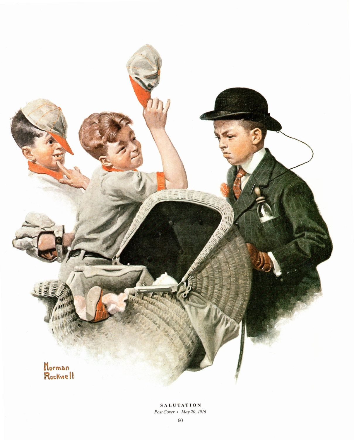 Salutation Post Cover Painted By Norman Rockwell The Page Is