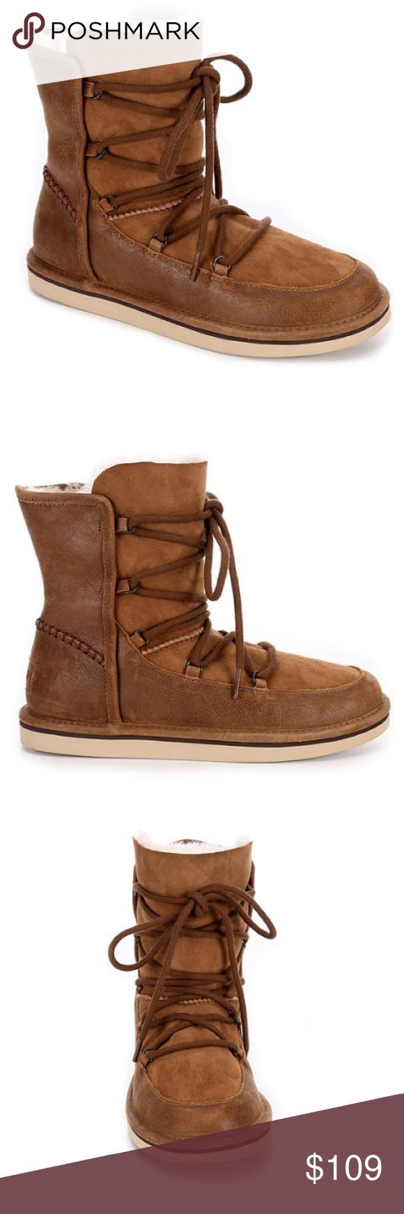 c7481a05cc3 ❤️New Ugg Lodge Chocolate Laced up boots Sz 10 ❤️New Ugg Lodge ...