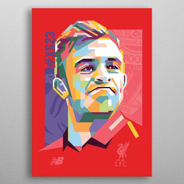 is a Swiss professional footballer who plays as a winger for Premier League club… | Displate thumbnail