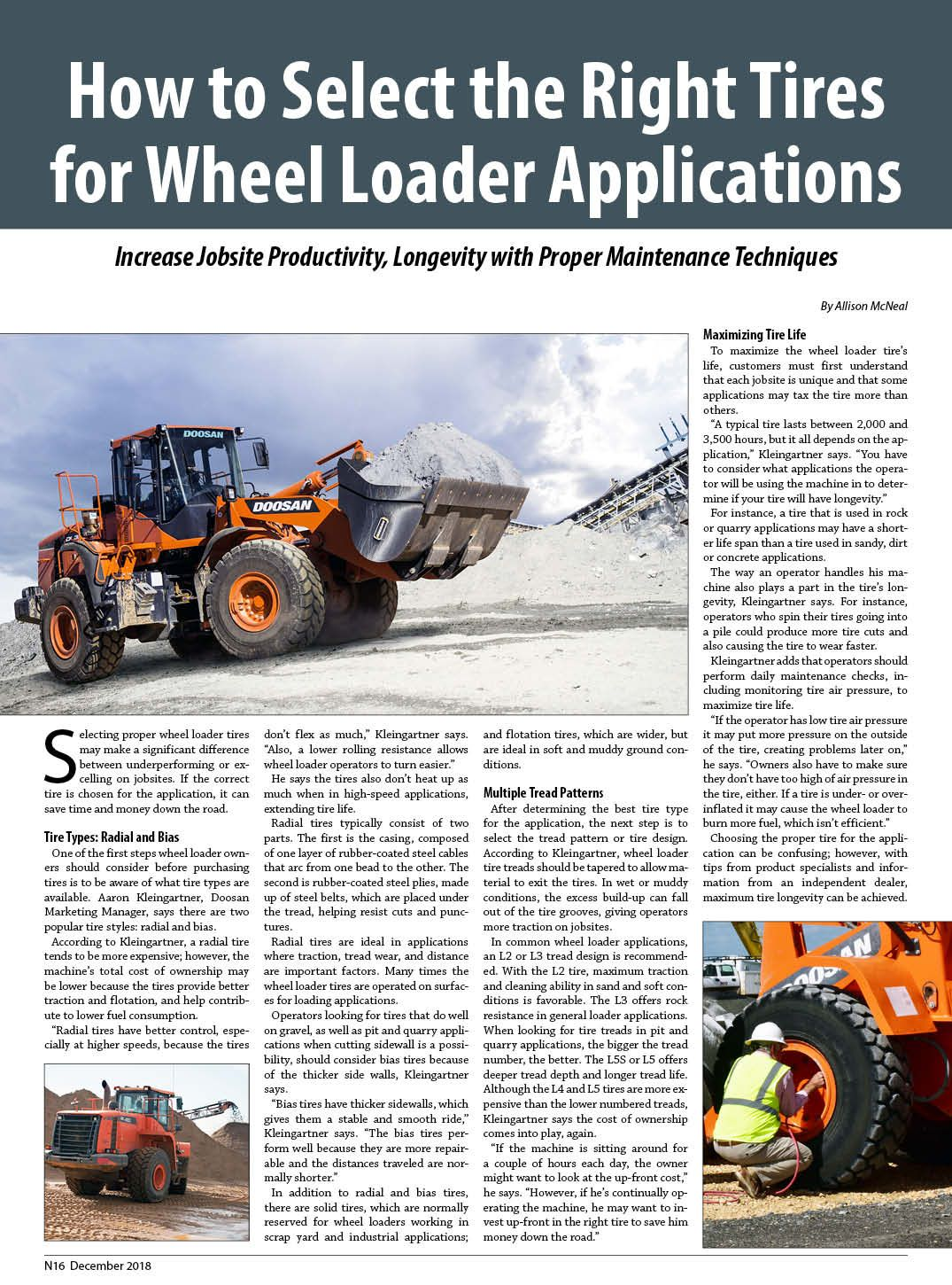How to Select the Right Tires for Wheel Loader